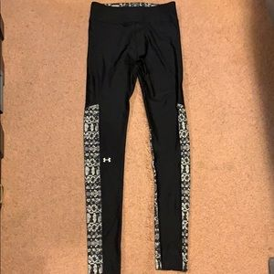 Under armour long compression pants with pattern